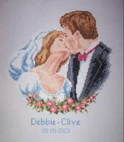 Вышивка картинки свадьба