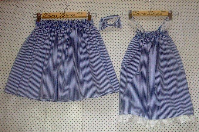 Как сшить юбку для себя и дочки 779