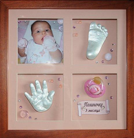 Отпечаток ножки малыша своими руками