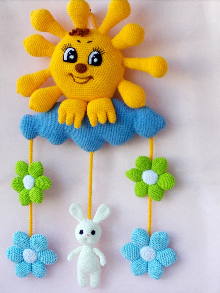 Вязанные игрушки на стену